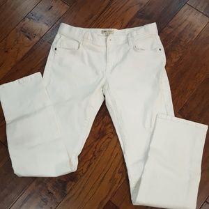 CAbi white stretch denim jeans